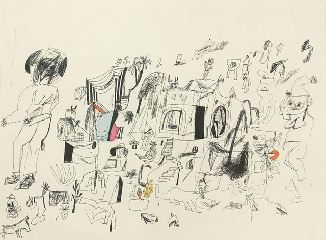 Eddie Martinez, 'Untitled', 2010, Drawing, Collage or other Work on Paper, Mixed media on paper, ZieherSmith