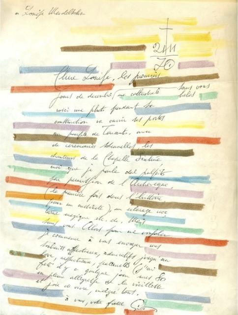 , 'Handwritten letter,' 1970, Galleria Rossella Colombari