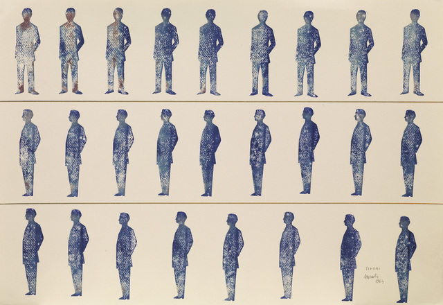 Renato Mambor, 'Timbri', 1964, Drawing, Collage or other Work on Paper, Stamp ink and marker on paper, Tornabuoni Art