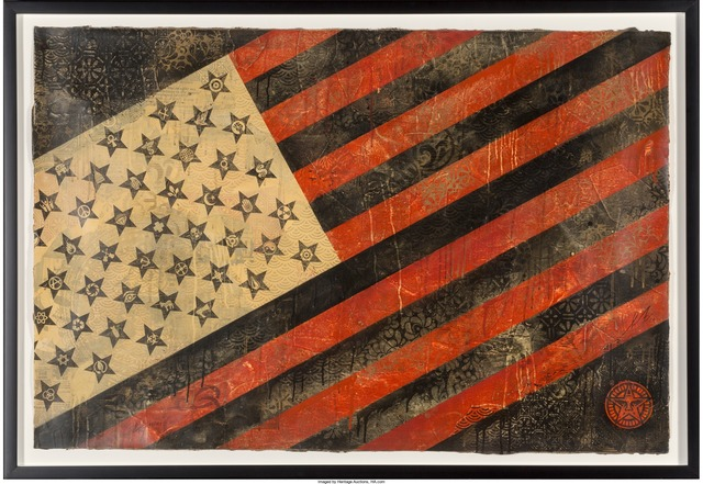 Shepard Fairey (OBEY), 'Flag', 2010, Heritage Auctions