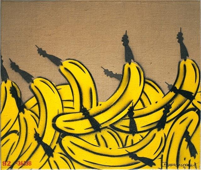 Bananensprayer Thomas Baumgärtel, 'Bananenberg', 1992, Galerie Kronsbein