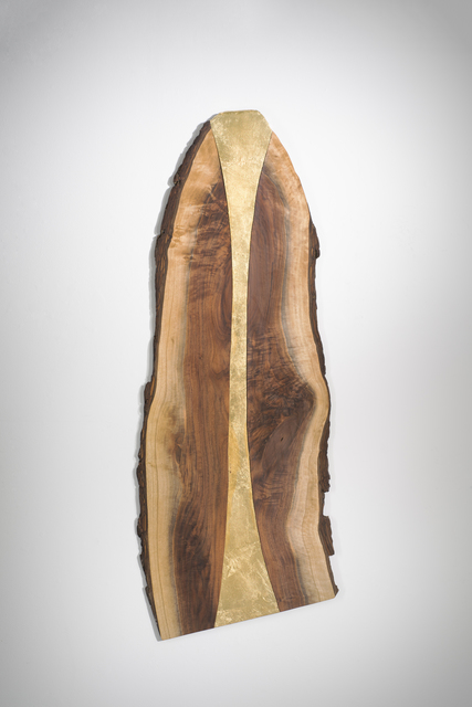 Betty McGeehan, 'Minimal Wood Abstract Sculpture: 'Gold Rush'', 2015-18, Ivy Brown Gallery