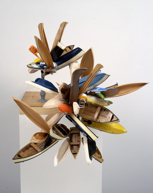 Nancy Rubins, 'Study', 2005, Sculpture, Wood and plastic model boats, painted copper tubing on plywood, Gagosian