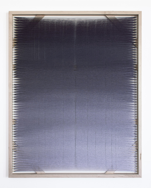 Rachel Mica Weiss, 'Woven Screen, Fog Gradient X', 2020, Textile Arts, Polyester embroidery thread, brass hooks, maple, Carvalho Park