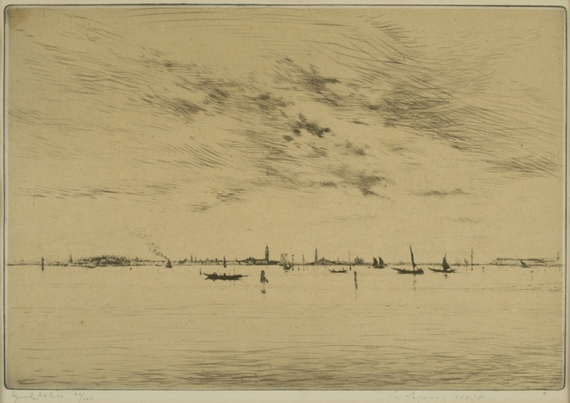 Edgar Chahine, 'Lagoon, Venice ', ca. 1922, Private Collection, NY
