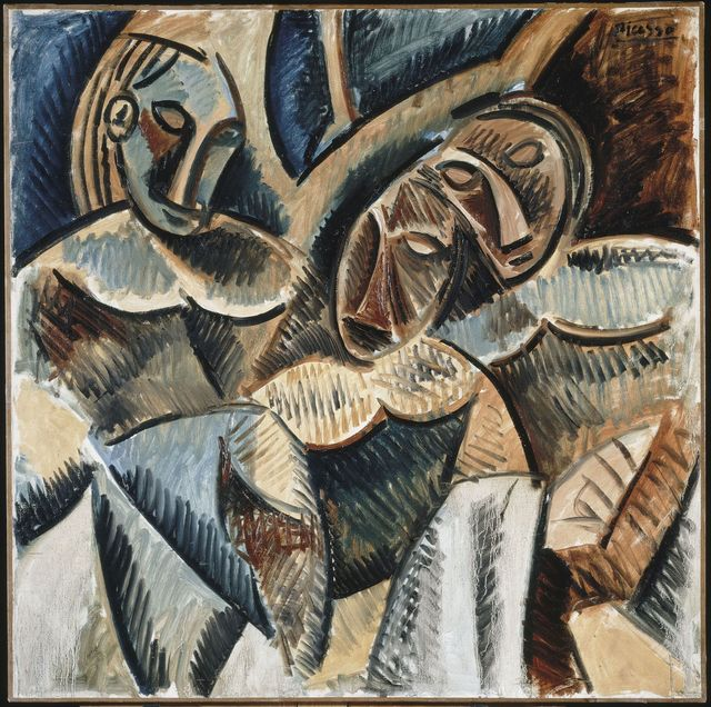 , 'Trois figures sous un arbre (Three figures under a tree),' Winter 1907-1908, Musée Picasso Paris