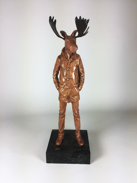 , 'Cherry Longcoat Moose,' 2018, West Branch Gallery