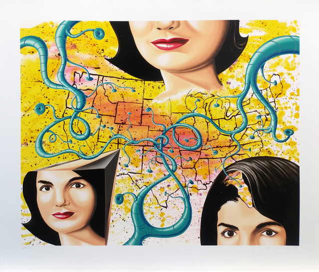 Kenny Scharf, 'THE 3 FACES OF JACKIE THE AMERICAN', 1997, Gallery Art