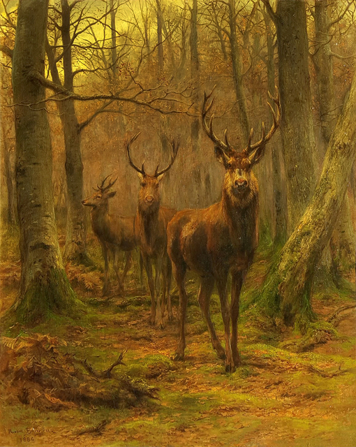 Rosa Bonheur, 'Monarch of the Forest', 1886, Painting, Oil on canvas, Robert Funk Fine Art