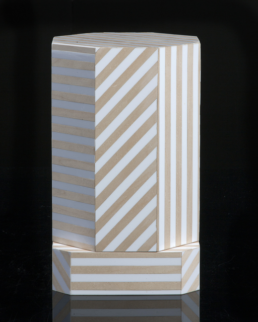 ", '""Ziggurat"" single container, Natural Stripes,' 2012, R & Company"