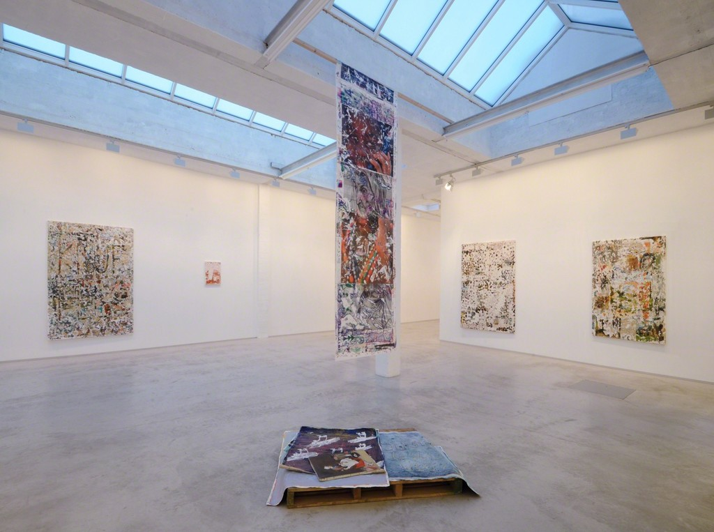 installation view of the exhibition 'About People' by Ermias Kifleyesus
