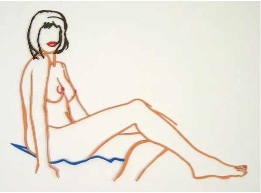 , 'Monica Sitting, One Leg on the Other,' 1986-1990, David Benrimon Fine Art