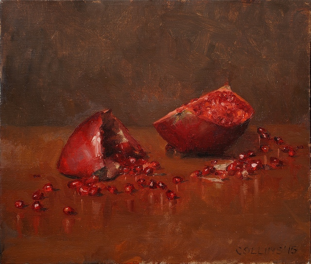 Jacob Collins, 'Pomegranates III', 2015, Painting, Oil on canvas, Adelson Galleries