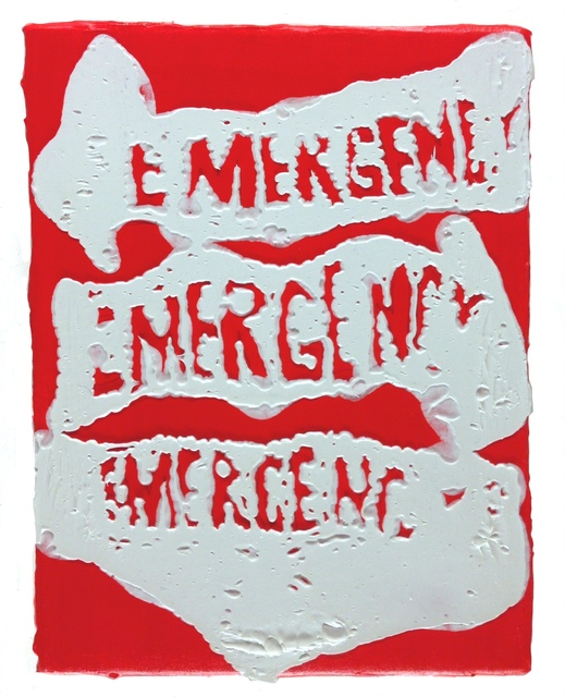 , 'Three on red (emergency),' 2015, Johannes Vogt Gallery