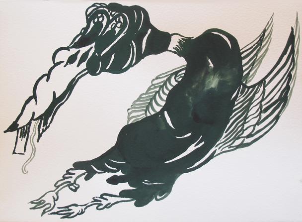 Allison Schulnik, 'Duck #2', 2014, Mark Moore Fine Art