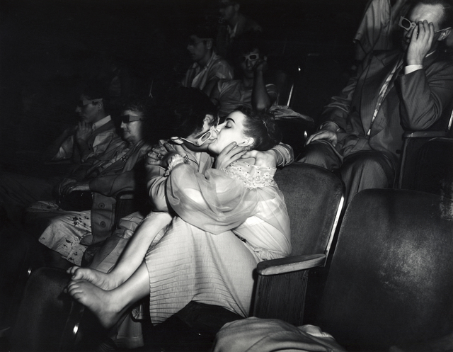 , 'Weegee, Lovers with 3D glasses at Palace Theatre,,' ca. 1945, The Photographers' Gallery