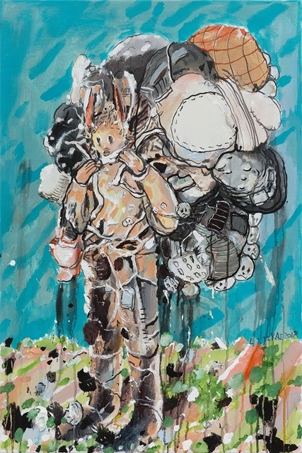 , 'The One Carrying a Burden No.5 背包袱的人 No.5,' 2018, Star Gallery