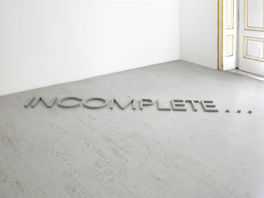 Robert Barry - partial view of the exhibition - June 2014 - Galleria Alfonso Artiaco, Napoli