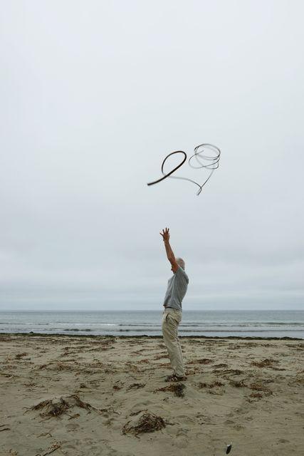 , 'Kelp thrown into a grey, overcast sky Drakes beach, California,' 2013, Marta Moriarty