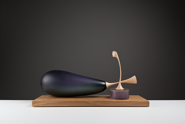 , 'Still Life of Aubergine and Can Fruit,' , London Glassblowing Gallery