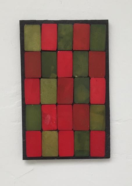 Luis Romero, ' Verde/Rojo (damero)', 2019, Maddox Arts