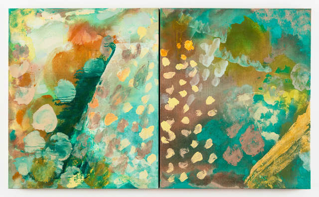 """Molly Herman, 'Dwell In Green Mountain (diptych) 24 x 40""""', 2019, The Painting Center"""