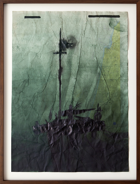Jonathan Goldman, 'No Land Map #10', 2016, Zemack Contemporary Art