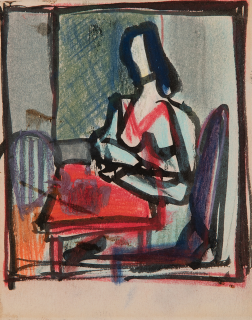 , 'Woman at a Table,' circa 1946, Hollis Taggart