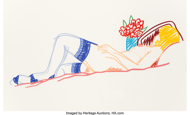 Tom Wesselmann, 'Untitled (Nude with Bouquet and Stockings)', 1991, Heritage Auctions