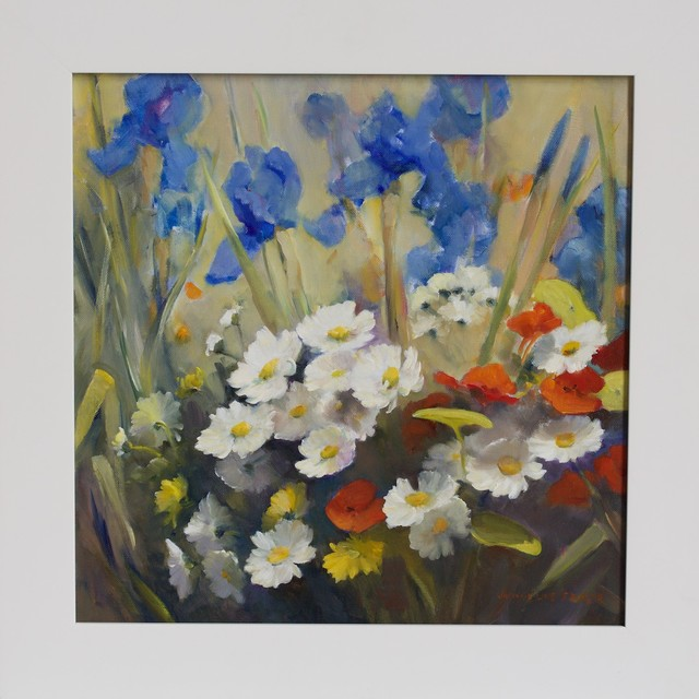 , ''Daisies and Irises II' ,' 2014, Wentworth Galleries