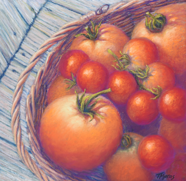Tracey Maras, 'Chain of Rubied Pearls', 2020, Painting, Pastel, Springfield Art Association