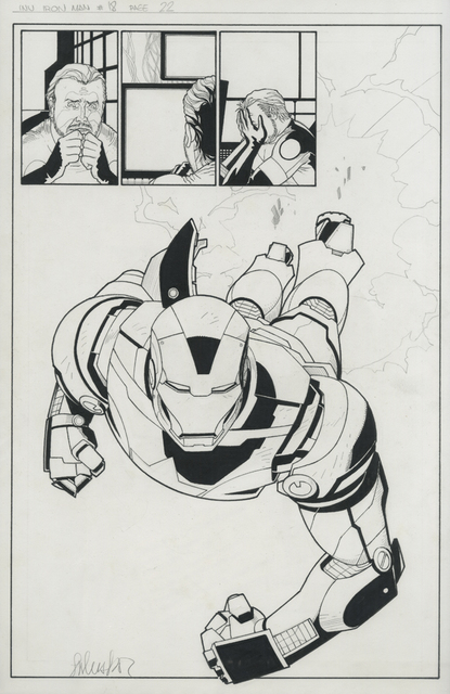 , 'INVINCIBLE IRON MAN (2008) #18, pg 22 1st: Iron Patriot splash,' 2008, Gallery 30 South