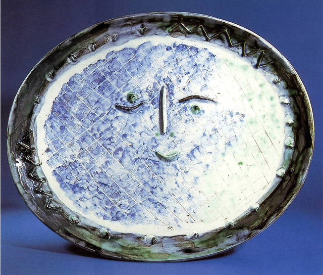 Pablo Picasso, 'AR 277 Face in Oval', 1955, Sculpture, O.P. white earthenware clay, decoration in engobes under brushed glaze, Rosenbaum Contemporary