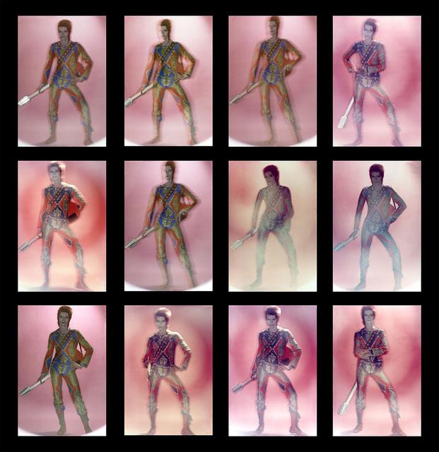 , 'David Bowie: Ziggy Stardust, Contact Sheet,' 1972, ElliottHalls