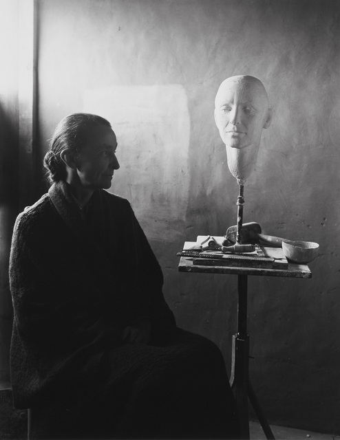 Eliot Porter, 'Georgia O'Keeffe and Head of O'Keeffe by Mary Callery, Ghost Ranch, New Mexico', 1945, Phillips