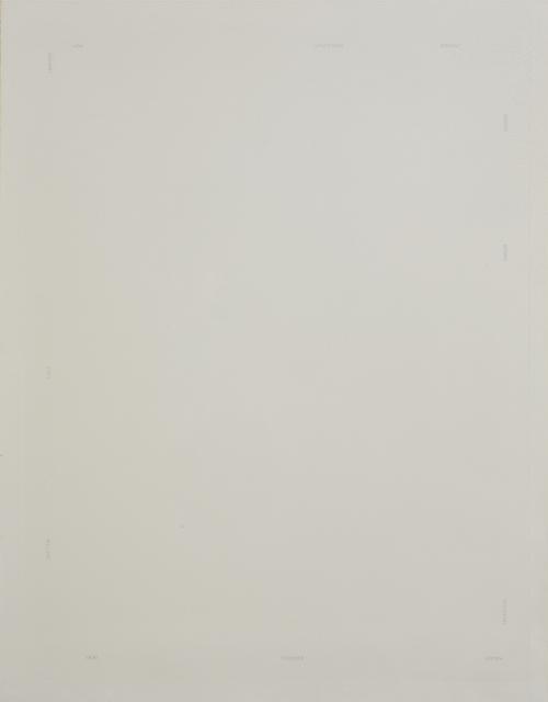 Robert Barry, 'Mots Répartis Sur 4 Bords De La Feuille', 1978, Print, Engraving on paper, DIGARD AUCTION