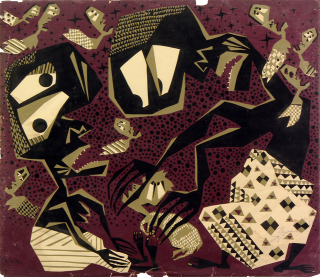, 'Iwin Series no. 1,' 1960, TAFETA