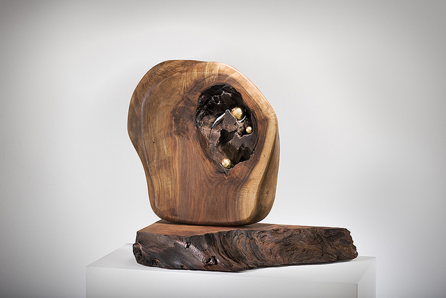 Betty McGeehan, 'Minimal Wood Abstract Sculpture: 'Cloistered'', 2015-18, Ivy Brown Gallery