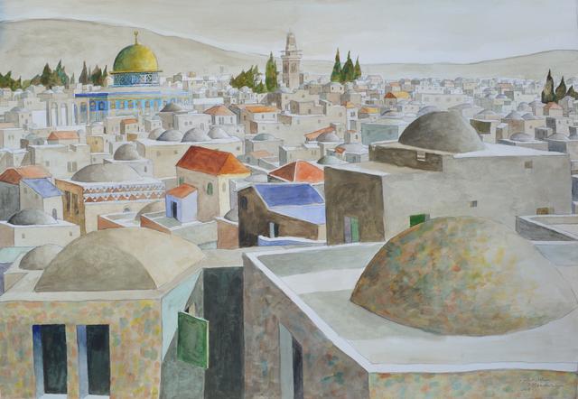 Sliman Mansour, 'Jerusalem', 2018, Zawyeh Gallery