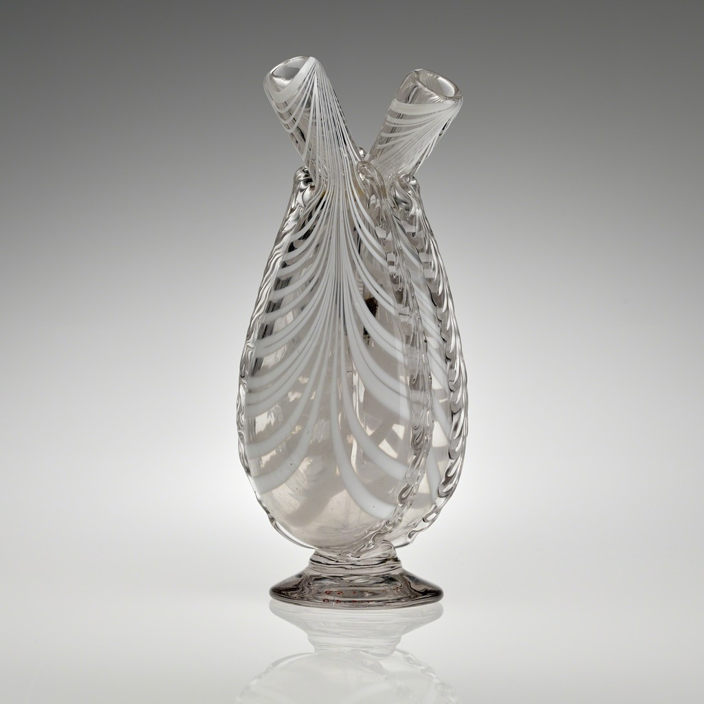 Gimmal Flask, N.J., 1820–40. Blown and tooled glass. Yale University Art Gallery, Mabel Brady Garvan Collection