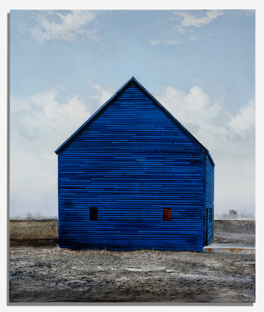, 'Blue Stores,' 2019, Nancy Hoffman Gallery