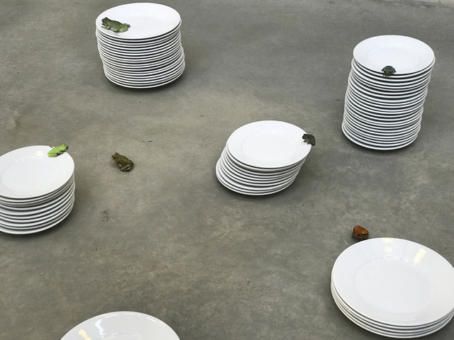 , 'Frogs and Plates No.21,' 2016, Suzanne Tarasieve