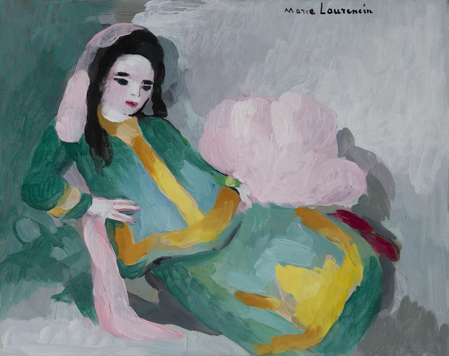 Marie Laurencin, 'Femme allongée', ca. 1938, Painting, Oil on canvas, BAILLY GALLERY