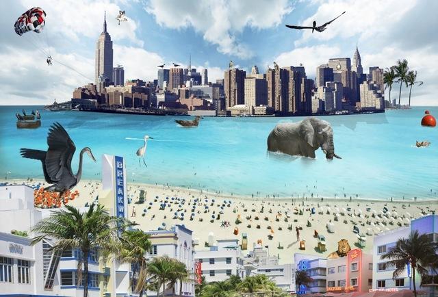 , 'Miami to New York,' 2015, IAZ Art Gallery