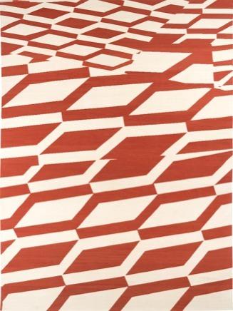 , 'Composition Cream Burnt Orange,' 2015, Maddox Arts