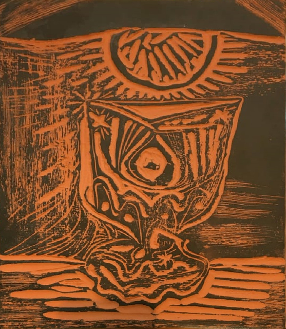 Pablo Picasso, 'Glass under lamp or Le verre sous la lampe (A.R. 519)', 1964, Invertirenarte.es