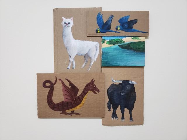 Julia Debasse, 'Fauna Fantástica das Brancas Dunas ', 2020, Painting, Acrylic on cardboard, Portas Vilaseca Galeria