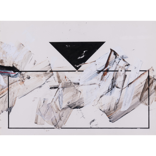 Luis Feito, 'Untitled', 1987, Drawing, Collage or other Work on Paper, Acrylic and ink on paper, PIASA