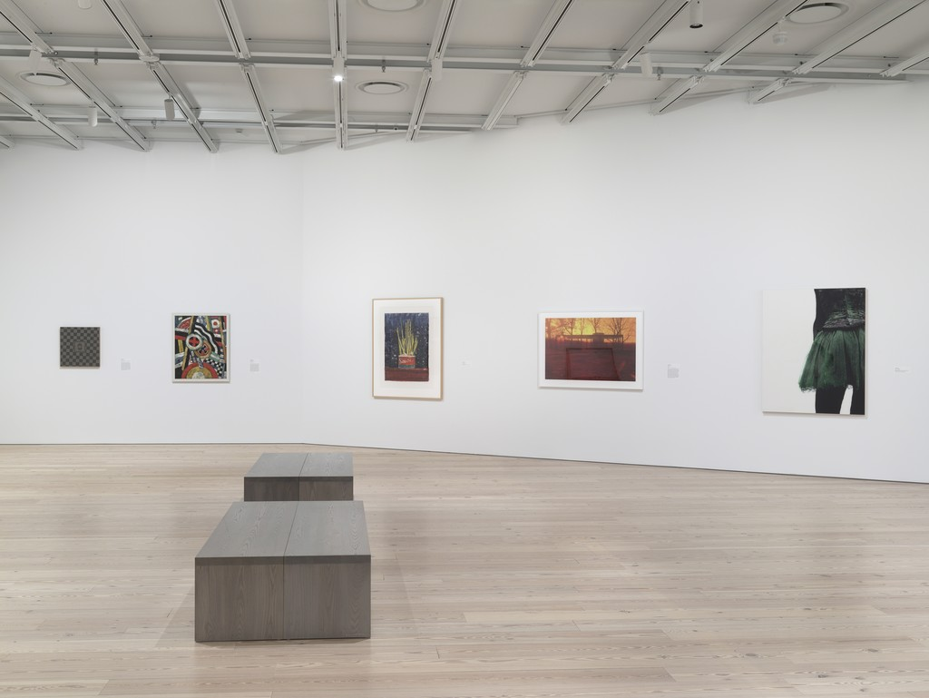"Bengston, ""Kirk"", 72.153a-b, Marsden Hartley, ""Painting, Number 5"", 58.65, Jasper Johns, ""Savarin"", 2002.235, James Welling, ""0806"", 2010.71, Louise Lawler, ""Marie + 90"", 2013.23"