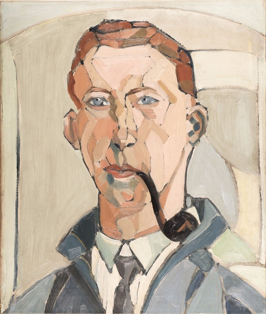 , 'Self-portrait with Pipe,' 1915, Liss Llewellyn